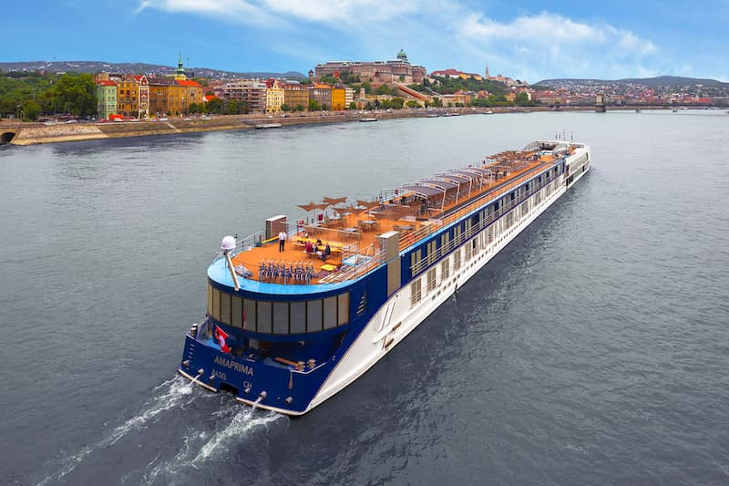 Exterior of European river cruise ship, AmaPrima