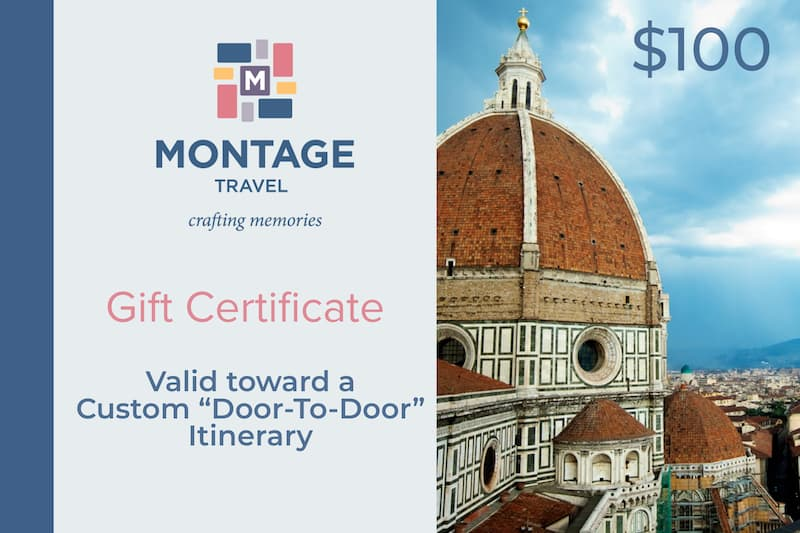 Gift Certificate for travel planning services