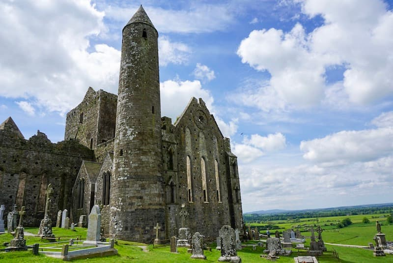 Exterior of the cathedral at Rock of Cashel in Ireland