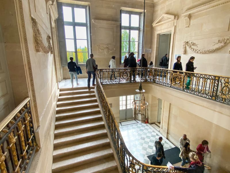Staircase showing two levels of the Petit Trianon at Versailles
