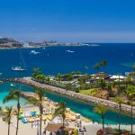 View of the beach at Anfi del Mar in Gran Canaria